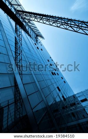 Modern Architecture in blue