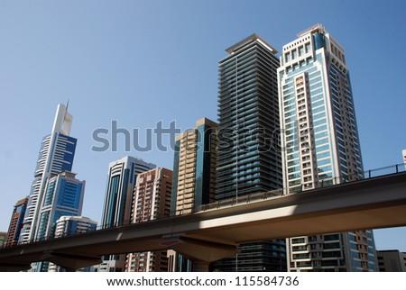 Modern architecture in Dubai ( United Arab Emirates)