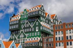 Modern architecture in Zaandam Netherlands - architecture background