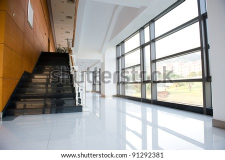 Modern architecture of large business conference center.