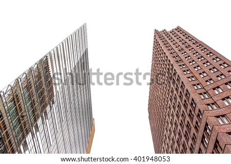 Free photos facade of modern bureau buildings avopix