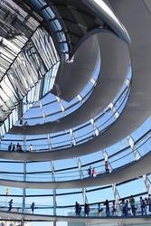 Modern architecture of Reichstag