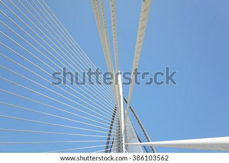 Modern architecture of Seri Wawasan Bridge at Putrajaya, Malaysia. #386103562