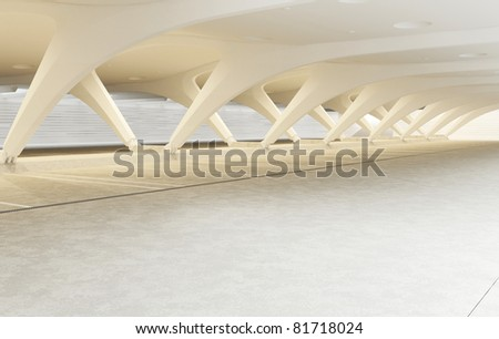 modern architecture of the room