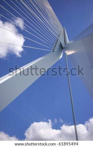 modern architecture on the erasmusbridge in Rotterdam