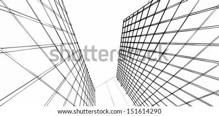 modern architecture sketches #151614290