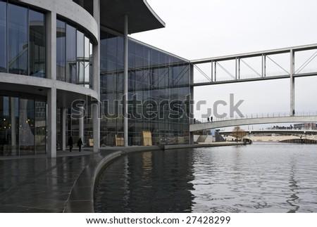 modern architecture surround by water