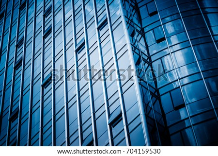 Modern architecture tone in blue tone  #704159530