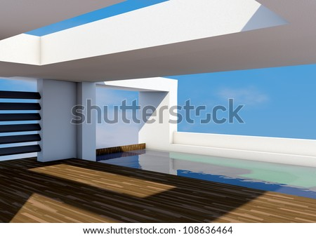 Modern Architecture with pool