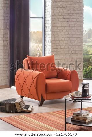 Modern armchair in Luxury Living Room