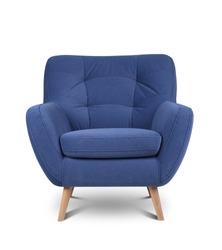 Modern armchair on white background
