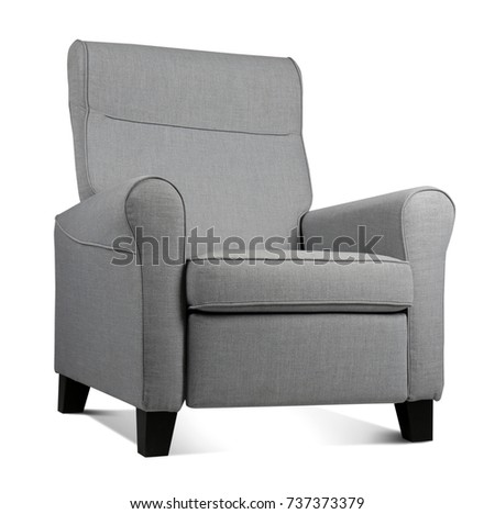 Modern armchair on white background #737373379