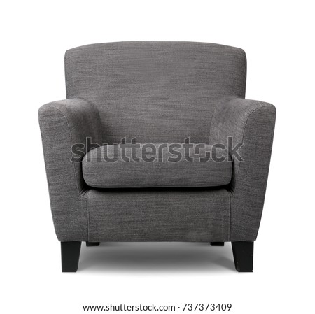 Modern armchair on white background Foto stock ©