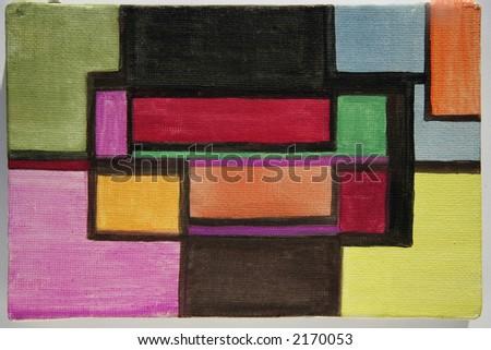 modern art block colour cubist style