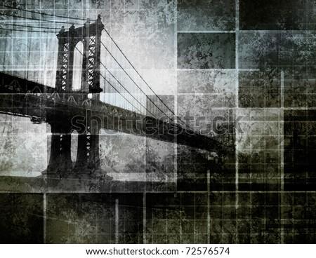 Modern Art Inspired New York City Bridge