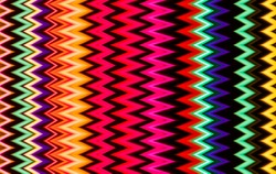 Modern art. Long exposure neon lights texture. Zig zag pattern.