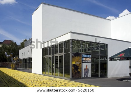 modern art museum berlin gallery building stock photo 5620150 shutterstock. Black Bedroom Furniture Sets. Home Design Ideas