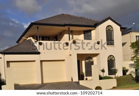 Modern Australian house - stock photo