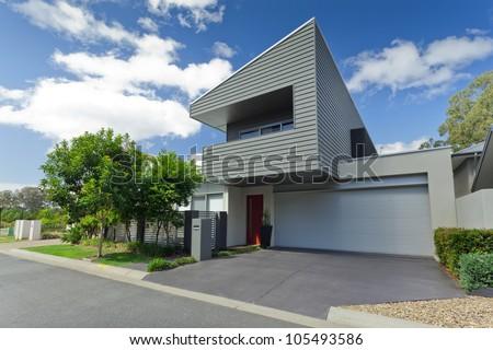 Modern Australian house front