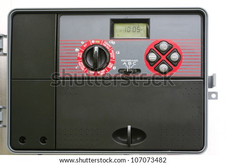 Modern Automatic Sprinkler System Control Timer - stock photo
