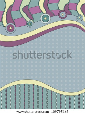 Modern background with circles, dots and stripes