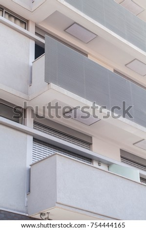 modern balconies. modern balconies in gray #754444165
