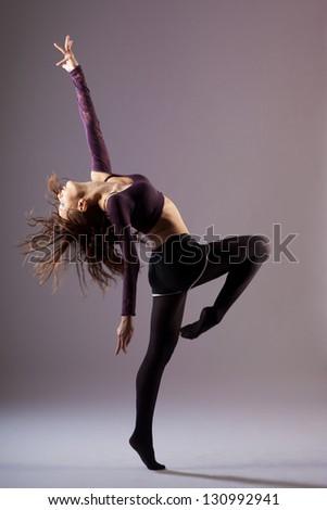 modern ballet dancer dancing