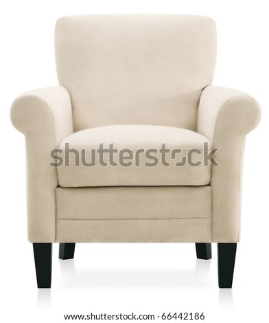 modern baroque white armchair - stock photo
