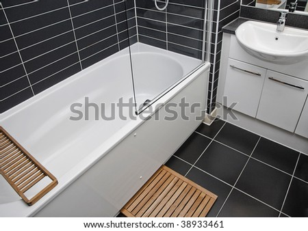 Bathroom Tile Colors - Black - Gray - Home Renovation - Home