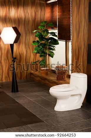 modern bathroom in a luxury apartment