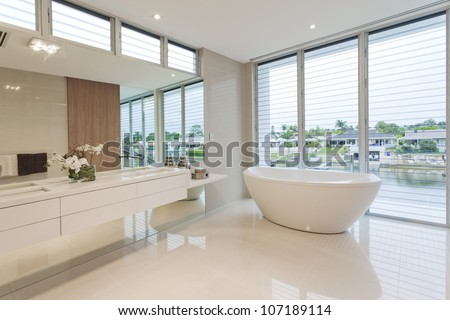 Modern bathroom in luxury Australian house #107189114