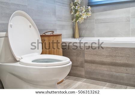 Modern bathroom in luxury house #506313262