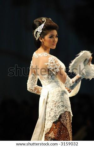 Modern Batik Kebaya Fashion Show by Anne Avantie - stock photo