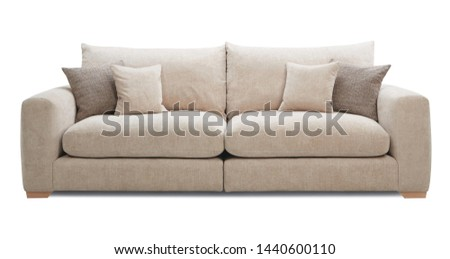 Modern Beautiful luxury sofa in white backgroung #1440600110