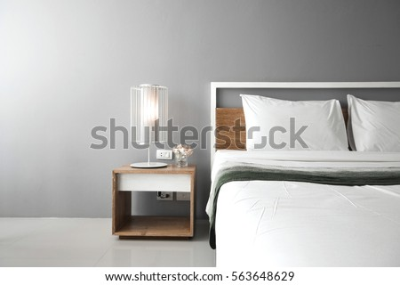 Modern bedroom design, Double bed. #563648629