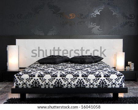 Modern Bedroom Interior Stock Photo 16041058 : Shutters