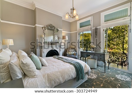 Modern bedroom interior #303724949