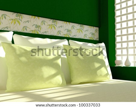 Interior Design  Bedroom on Modern Bedroom Interior Design  Stock Photo 100337033   Shutterstock