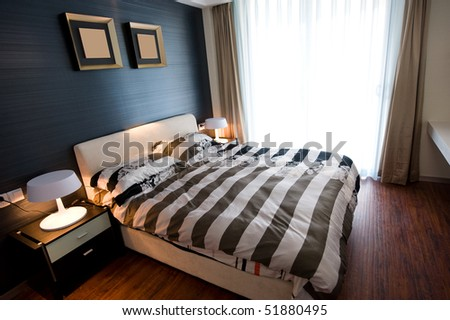 Modern bedroom waiting for couple.