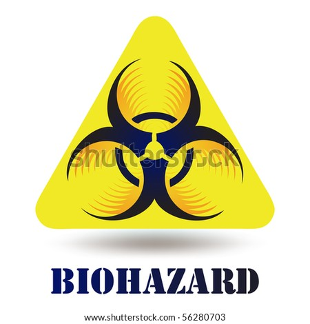 Modern Biohazard icon sign symbol isolated on white