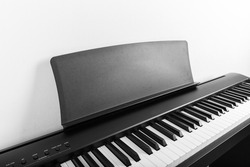 Modern Black and White Digital piano
