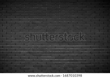 Modern Black brick wall background .Abstract Black brick wall texture for pattern background. brick wall background in rural room