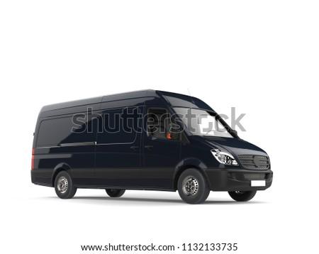 Modern black delivery van - 3D Illustration