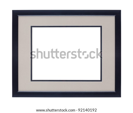 Modern Black picture frame with clipping path - add your own photos!