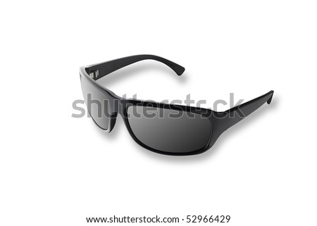 Modern black sun glasses