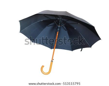 Modern black umbrella isolated on white background. #513115795