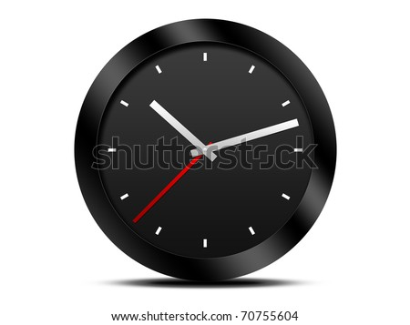 Modern Black wall clock