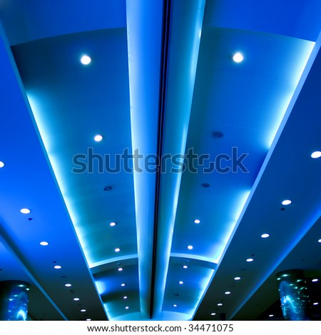 modern blue ceiling in the office