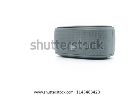 Modern bluetooth speaker .isolate on white background, mini bluetooth speaker #1145483420