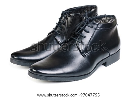 Modern boots isolated on a white background